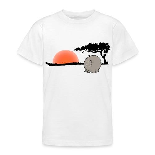 Ngumbe im Sonnenuntergang - klassisches Kinder T-Shirt - Teenager T-Shirt