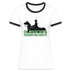 Glasgow's Green & White - Women's Ringer T-Shirt
