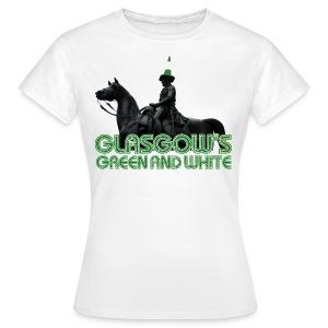 Glasgow's Green & White - Women's T-Shirt
