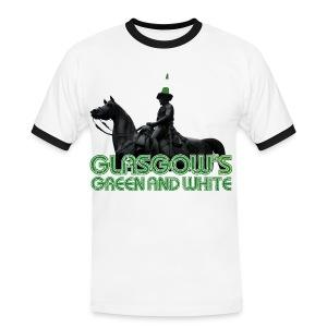 Glasgow's Green & White - Men's Ringer Shirt