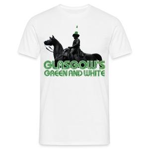 Glasgow's Green & White - Men's T-Shirt