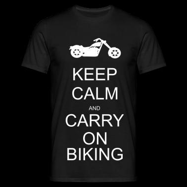Keep calm and carry on biking T-Shirts