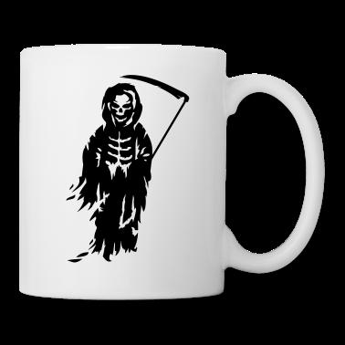tasse a grande faucheuse mort avec une faux tasses spreadshirt. Black Bedroom Furniture Sets. Home Design Ideas