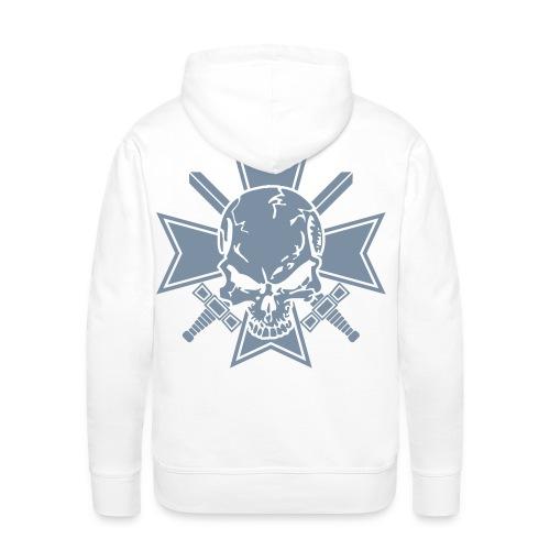 Eisernes Kreuz mit Schädel Kapuzenpulli - Männer Premium Hoodie