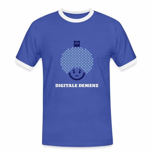 Digitale Demenz - Männer Kontrast-T-Shirt