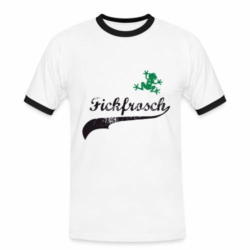 Fickfrosch - Männer Kontrast-T-Shirt