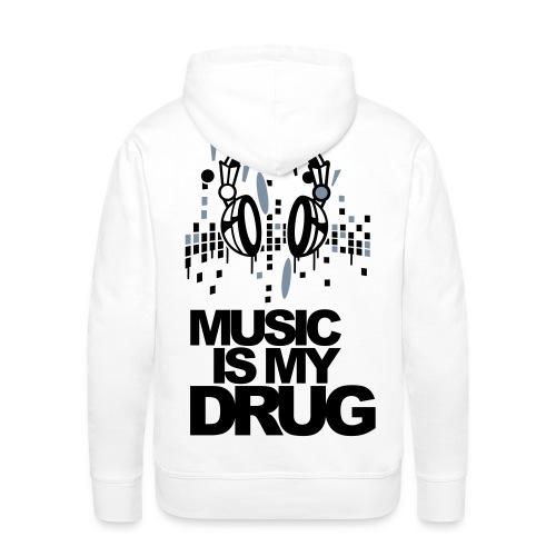 Music is my drug Hoodie - Men's Premium Hoodie