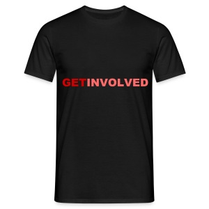 GET INVOLVED RED - Men's T-Shirt
