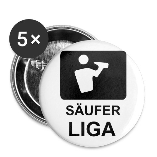 Säufer Liga Buttons 5er Pack - Buttons groß 56 mm