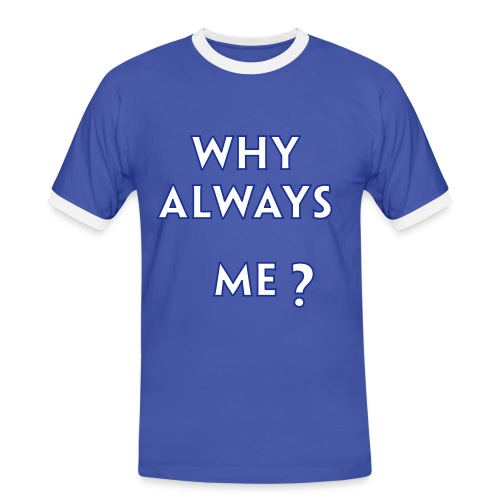 Balottelli - Why Always Me - Italia Retro T - Men's Ringer Shirt