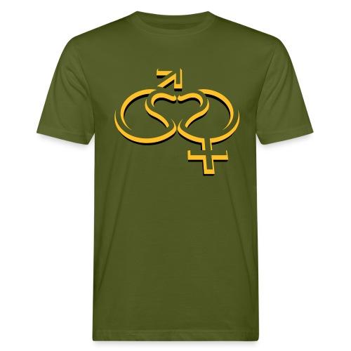 MannFrauLiebe - Männer Bio-T-Shirt