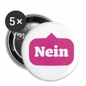 Nein / No - Buttons mittel 32 mm