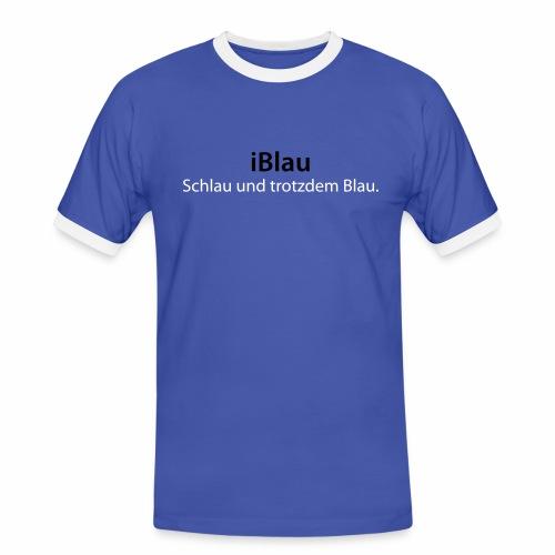 iBlau - Männer Kontrast-T-Shirt