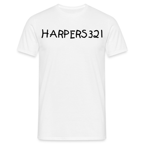 Mans White Harpers321 T-Shirt - Men's T-Shirt