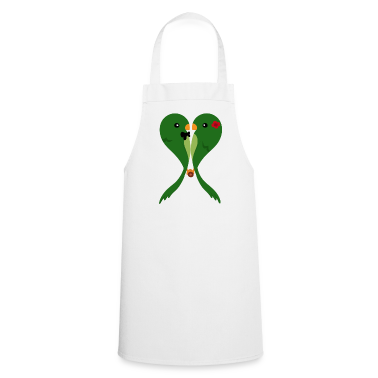 Parakeets in love  Aprons