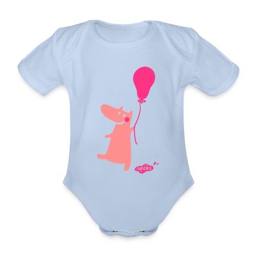 Kallinchen mit Luftballon - Baby Bio-Kurzarm-Body