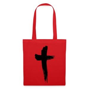 Kreuz schwarz - Stoffbeutel