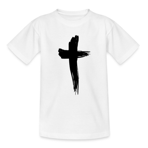 Kreuz schwarz - Teenager T-Shirt