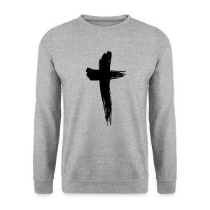 Kreuz schwarz - Männer Pullover
