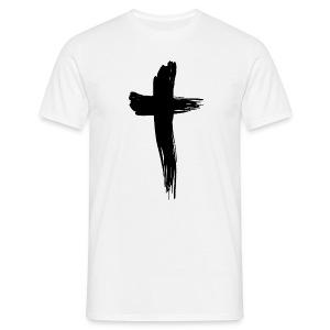 Kreuz schwarz - Männer T-Shirt
