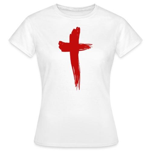 Kreuz rot - Frauen T-Shirt