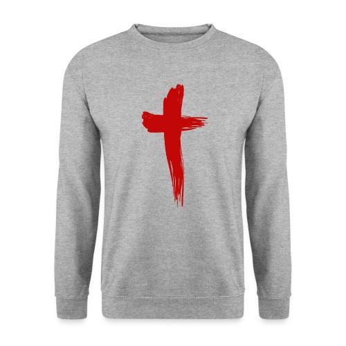 Kreuz rot - Männer Pullover