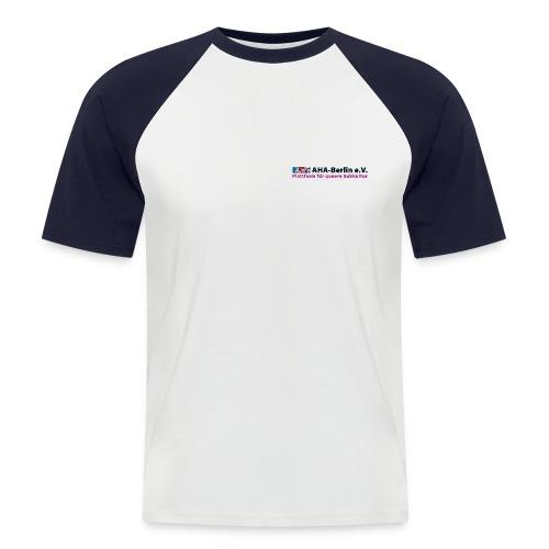 AHA-Baselball-Shirt (weiß/navy) - Männer Baseball-T-Shirt