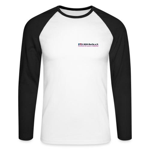 AHA-Langarm-Shirt (schwarz/weiß) - Männer Baseballshirt langarm