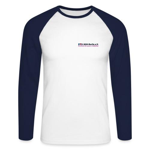 AHA-Langarm-Shirt (navy/weiß) - Männer Baseballshirt langarm
