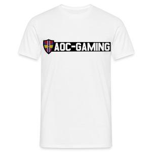 AOC-Gaming T-Shirt HERR Vit - T-shirt herr
