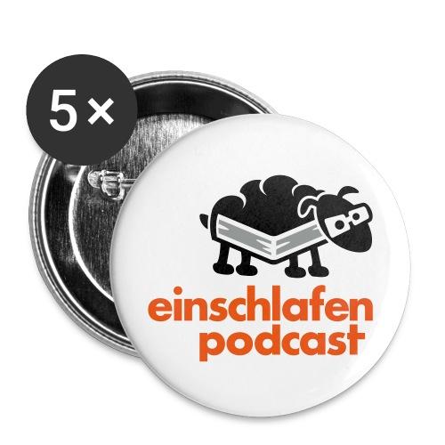 Button klein - Buttons klein 25 mm (5er Pack)