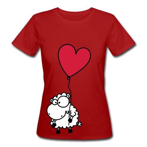 Liebes Shirt - Valentins Schaf mit Herz - Frauen Bio-T-Shirt