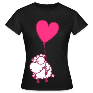 Pinkes Herz Schäfchen - Frauen T-Shirt