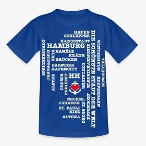 HAMBURGER Begriffe Kinder T-Shirt Hamburg blau + alle Farben - Teenager T-Shirt