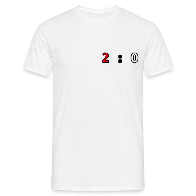 Männershirt 2 zu 0