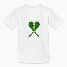 Parakeets in love Kids' Shirts