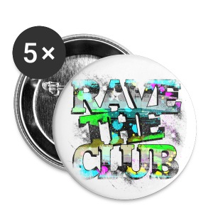 Anstecker for Chucks/Shoes Rave The Club  #1 - Buttons klein 25 mm