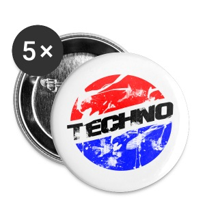 Anstecker for Chucks/Shoes Techno Fresh #1 - Buttons klein 25 mm