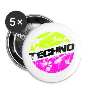 Anstecker for Chucks/Shoes Techno Fresh #2 - Buttons klein 25 mm