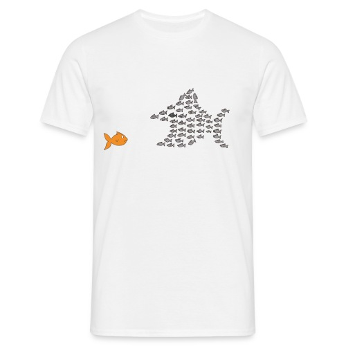 Fischschwarm T-Shirt, Männer, weiß - Männer T-Shirt