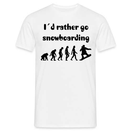 I´d rather go snowboarding Mens Tshirt - T-shirt herr