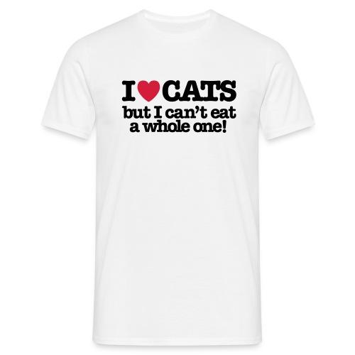 I Love Cats - Mannen T-shirt