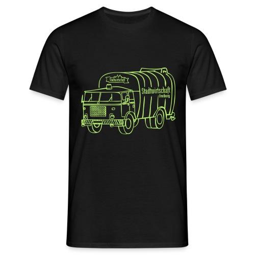 stawi Herren T-Shirt (BOBR  Brustprint hellgrün)  - Männer T-Shirt