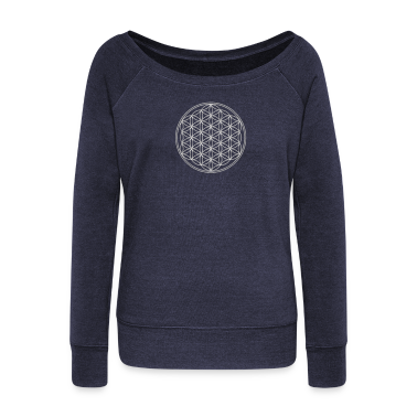 FEEL THE ENERGY, Flower of Life, Silver, Sacred Geometry, Protection Symbol, Harmony, Balance Hoodies & Sweatshirts