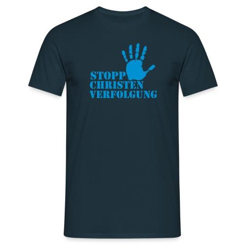 STOPP CHRISTEN VERFOLGUNG - Männer T-Shirt
