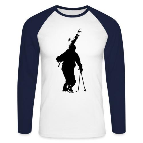 walking Telemarker Men - Männer Baseballshirt langarm
