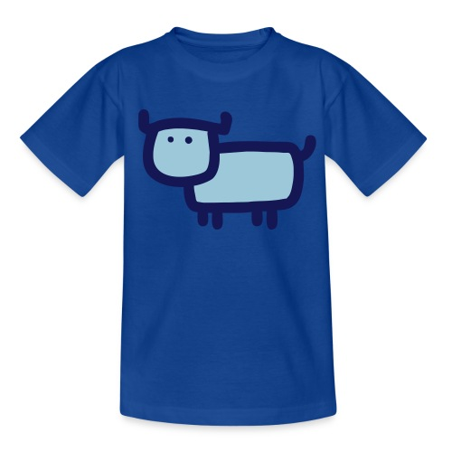 Kleine Muh Kuh Blau - Teenager T-Shirt