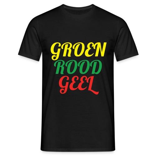 Groen, rood en geel T-shirt! - Mannen T-shirt