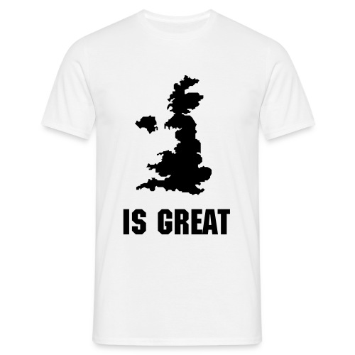 Britain is Great Map - Men's T-Shirt