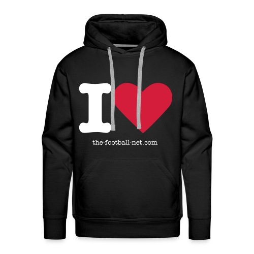I Love The Football Net Hoodie - Men's Premium Hoodie